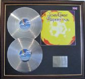 JESUS CHRIST SUPERSTAR - Double Platinum Disc and cover - ORIGINAL SOUNDTRACK